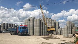 Доставка бетонных колец для колодца Московская область