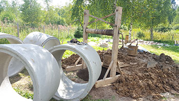 Копка колодца в Московской области