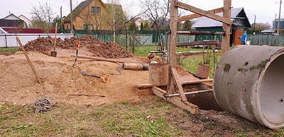 копка колодца в Волоколамске