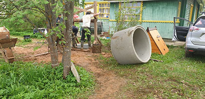 копка колодца в Егорьевске