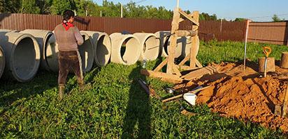 копка колодца в Обнинске