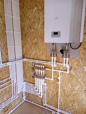 установка газового подогрева воды через котел