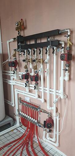 подключение отопления в частном доме