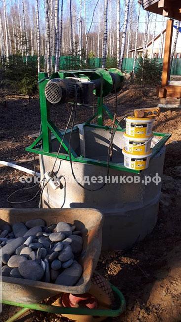 Ремонт и чистка колодца в Московской области