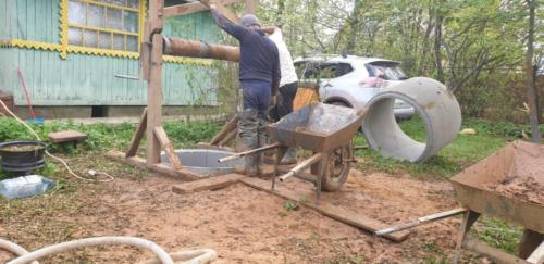 Выполнена копка колодца под ключ в Дмитровском районе