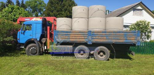 Доставка питьевых бетонных колец по всей Московской области