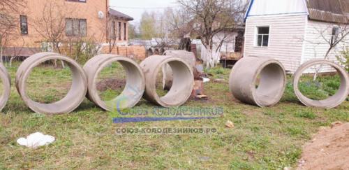 Доставка питьевых колец для колодца в Московской области