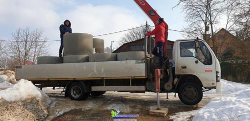 Доставка питьевых Ж/Б колец для колодца в Подольске